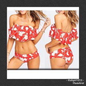 Other - 🆑 LAST 1 - Floral Ruffle Bikini